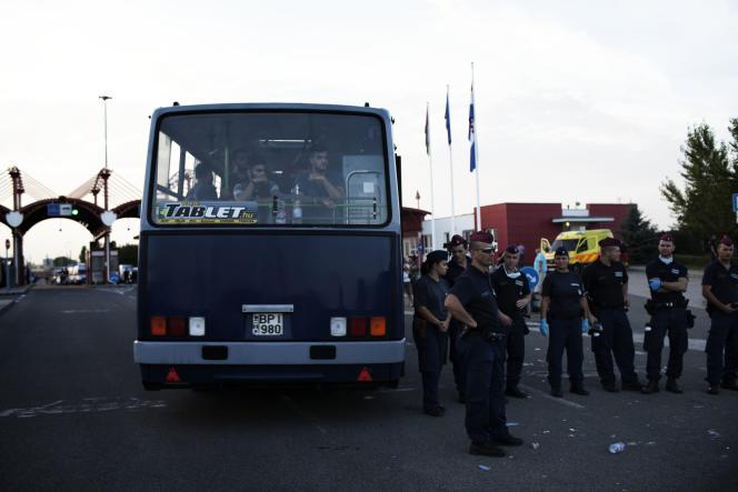 Un bus en provenance de Croatie à destination de la Hongrie et de l'Autriche.