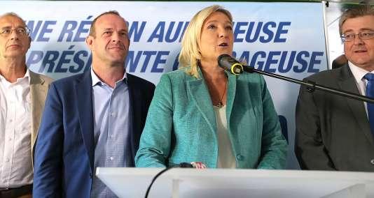 Marine Le Pen a lancé dimanche 20 septembre sa campagne pour les élections régionales dans la région Nord-Pas-de-Calais-Picardie.