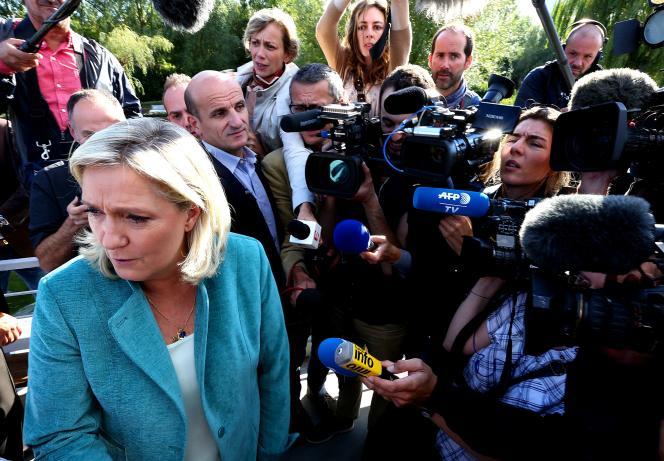 Marine Le Pen à Amiens (Somme), le 20 septembre 2015