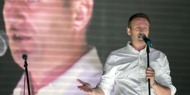 L'opposant russe Alexei Navalny à Moscou, le 20 septembre 2015.