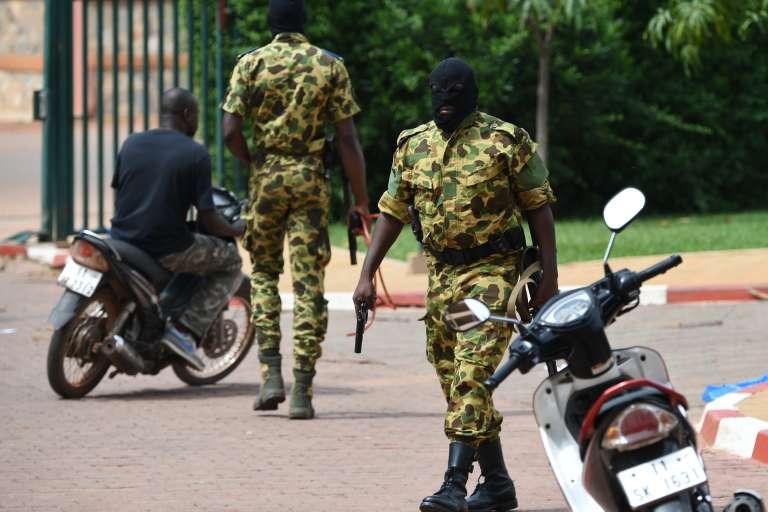 Des soldats du RSP, le régiment de sécurité présidentielle, à Ougadougou le 20 septembre.