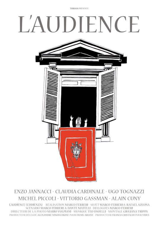 """Affiche du film """"L'Audience"""", de Marco Ferreri (1971)."""