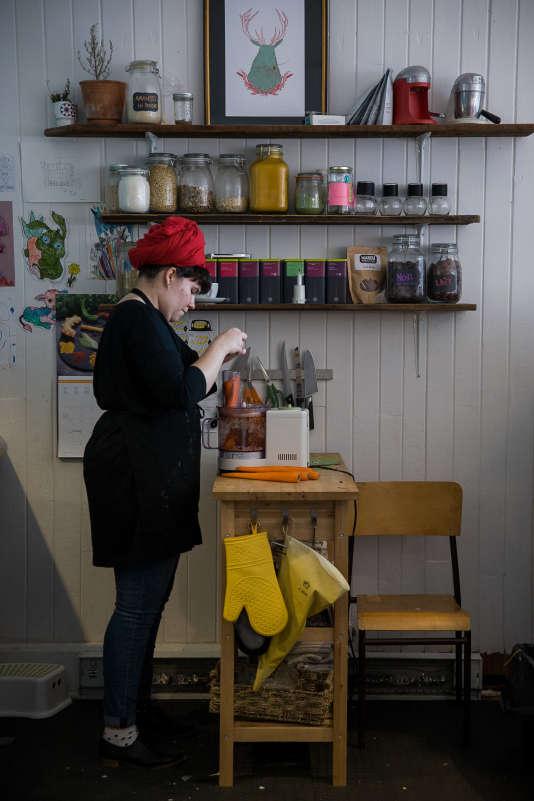 """Des restaurants """"écofriendly"""" comme ici le café """"Sfouf"""" apparaissent dans de nombreux quartiers de Montréal."""