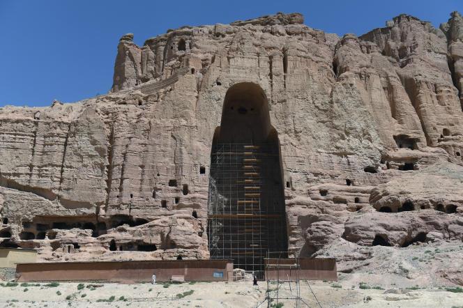 A Bamiyan (Afghanistan), l'une des niches des Bouddhas géants détruits par les Talibans en mars 2001.