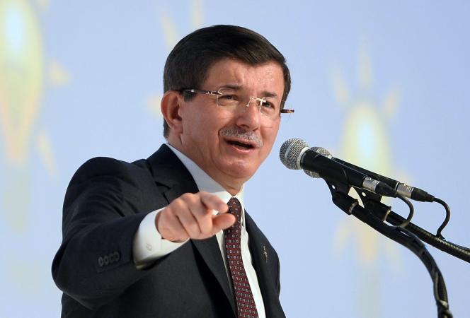 Le premier ministre turc, Ahmet Davutoglu, le 21 septembre 2015 à Ankara.