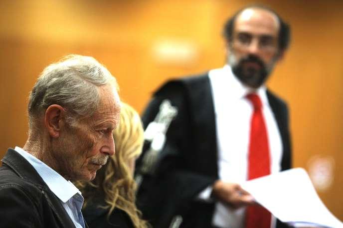 Erri De Luca pendant les réquisitions du parquet, au tribunal de Turin, le 21 septembre