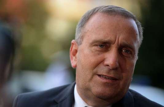 Grzegorz Schetyna, le ministre des affaires étrangères de Pologne, le 21 septembre à Prague.