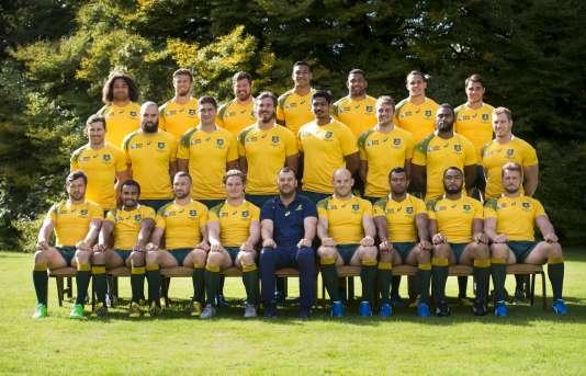 L'équipe d'Australie au grand complet avant le Mondial de rugby.