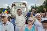 Manifestation antigouvernementale à Chisinau, la capitale moldave, le 7 septembre.