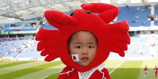 Avant le match Japon-Afrique du Sud, le 19 septembre à Brighton.