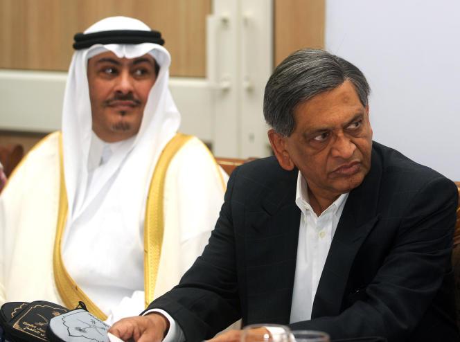 L'ambassadeur saoudien aux Nations unies, Faisal Trad (à gauche), à New Delhi, en octobre 2009.