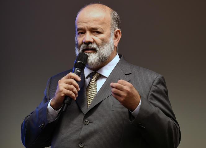 João Vaccari Neto, ancien trésorier du Parti des travailleurs (PT), parti au pouvoir au Brésil depuis 2003, a été condamné, lundi 21 septembre 2015, à quinze ans et quatre mois de prison pour corruption passive. Ici, en avril 2015.