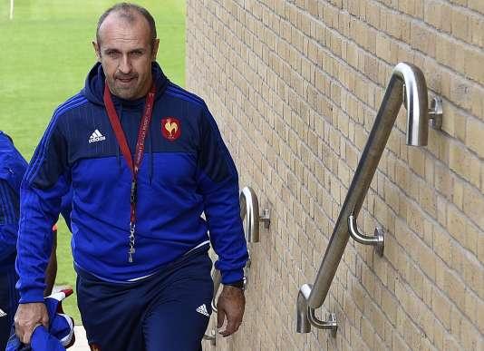 Philippe Saint-André, au camp de base des Bleus à Croydon, le 13 septembre.