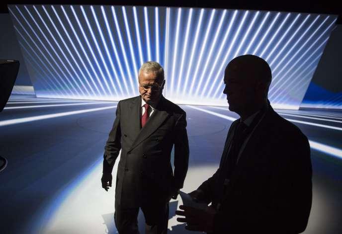 Martin Winterkorn, président du directoire de Volkswagen, lors du Salon automobile de Francfort, le 14 septembre.