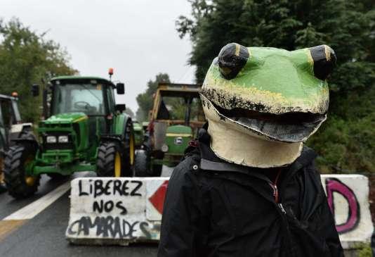 Des opposants à l'aéroport Notre-Dame-des-landes, le 22 septembre.