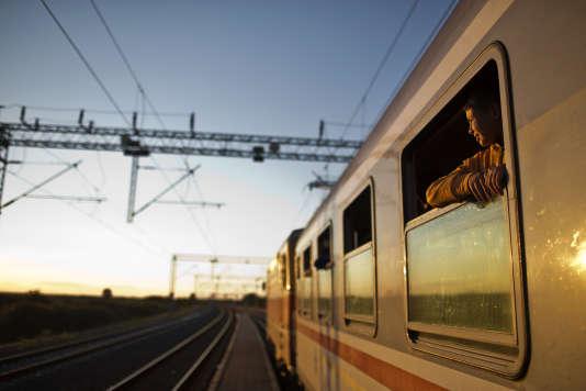 Un train transportant des réfugiés à Tovarnik (Croatie), près de la frontière avec la Serbie, le 21 septembre.