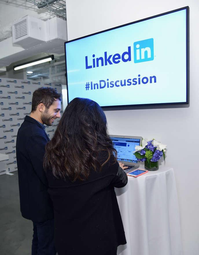 Lors d'un congrès de LinkedIn, le 31 mars 2015 à New York.