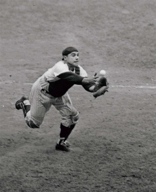Yogi Berra, receveur des Yankees, en 1962.