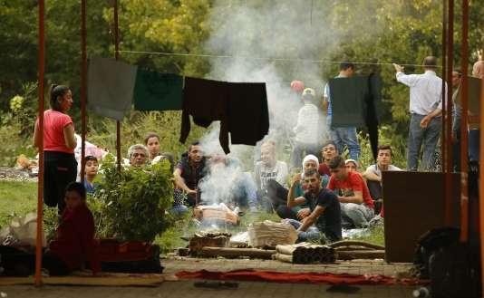 Des réfugiés installés à Edirne en Turquie, près de la frontière terrestre avec la Grèce, le 23 septembre.