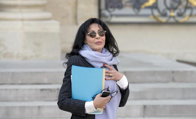 Yamina Benguigui, au palais de l'Elysée, le 26 mars 2014.