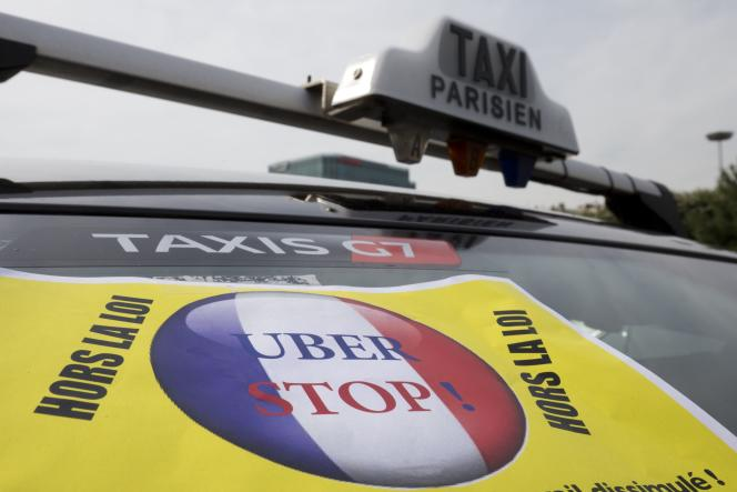 Lors des manifestations de chauffeurs de taxi du mois de juin 2015.