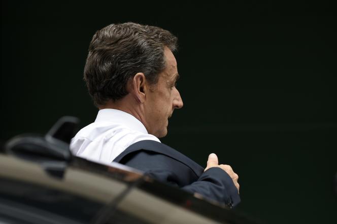 Nicolas Sarkozy, président du parti Les Républicains, à Bruxelles, le 23 septembre.