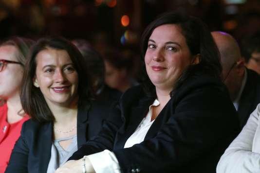 """Cécile Duflot et Emannuelle Cosse (EELV) font partie des signataires de la pétition en faveur d'une """"PMA pour toutes""""."""