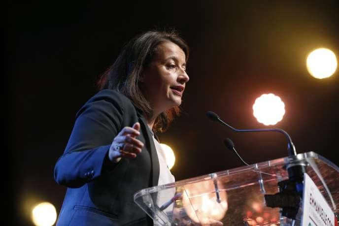 Cécile Duflot lors d'un rassemblement  du parti EELV, à Paris, le 23 septembre.