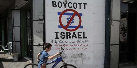 Appel au boycott des produits israéliens, à Bethléem.