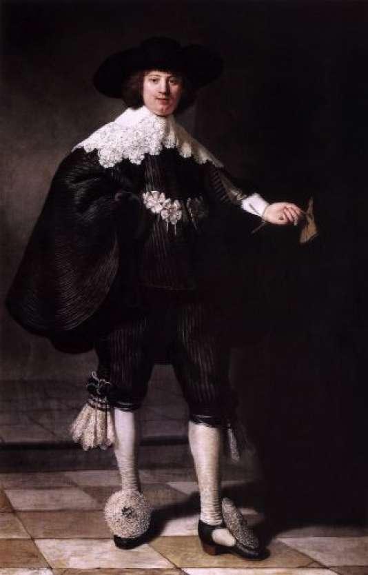"""""""Portrait de Marten Soolmans"""" de Rembrandt van Rijn, peint en 1634."""