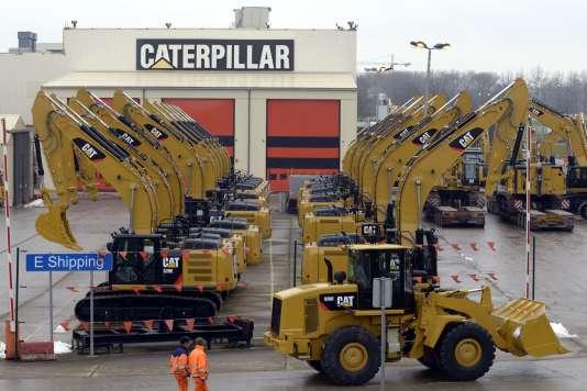 Une usine Caterpillar dans la ville belge de Gosselies, en février 2013.
