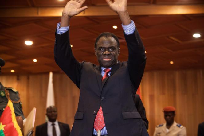 Michel Kafando, président du gouvernement de transition. Le 23 septembre à Ouagadougou.
