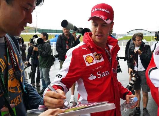 Sebastian Vettel au Grand Prix du Japon.