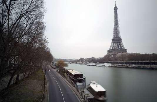 La voie George Pompidou à Paris.