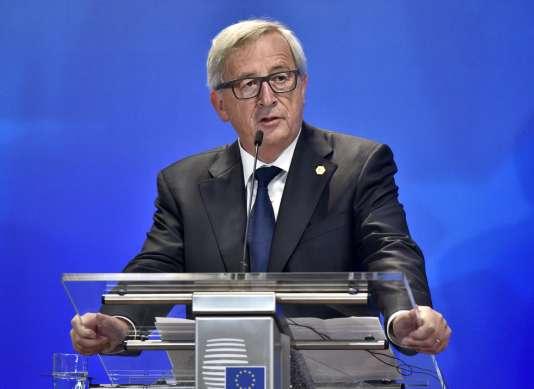Jean-Claude Juncker, à Bruxelles le 24 septembre.