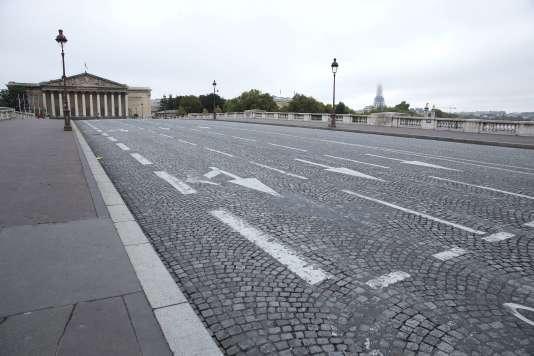 Le pont de la Concorde, à Paris, en septembre 2015, lors de la première édition de la journée « Paris sans voiture».