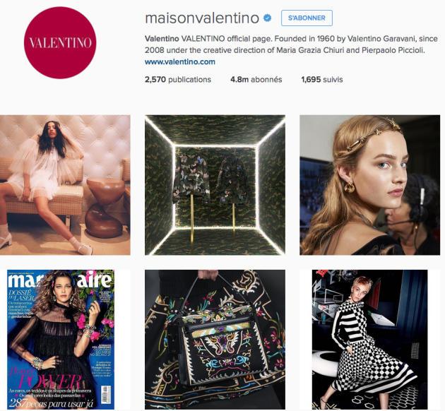 Pour les marques comme Valentino, les réseaux sociaux sont devenus un enjeu majeur.