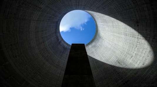 Une centrale nucléaire abandonnée, vue de l'intérieur, aux Etats-Unis.