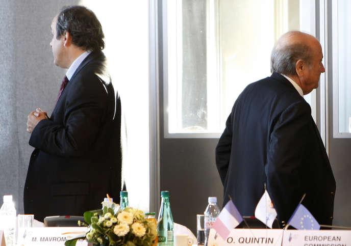 Sepp Blatter et Michel Platini, en 2008.