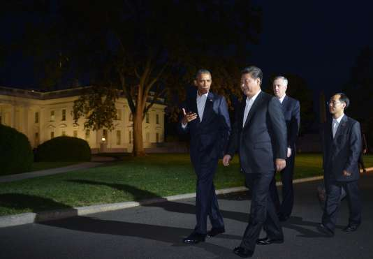 Barack Obama et son homologue chinois, Xi Jinping, devant la Maison Blanche, à Washington, le 24 septembre.