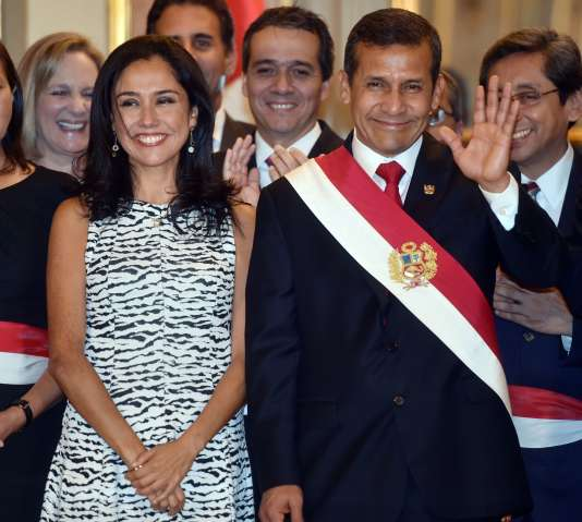 Le président Ollanta Humala et la première dame, Nadine Heredia, le 2 avril à Lima.