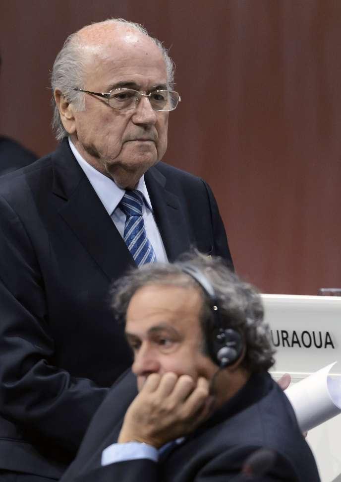 Sepp Blatter et Michel Platini, le 29 mai 2015, à Zurich.