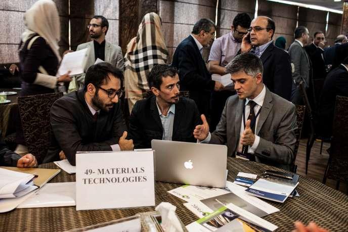 A la chambre de commerce de Téhéran, le 21 septembre.
