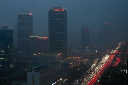 L'avenue Chang'an à Pékin, le 24 septembre 2015.