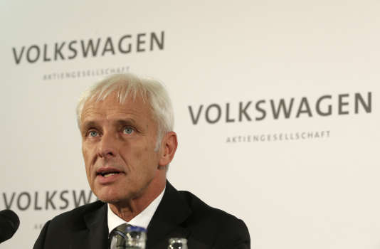 Matthias Müller, le nouveau président du directoire de Volkswagen, le 25 septembre.