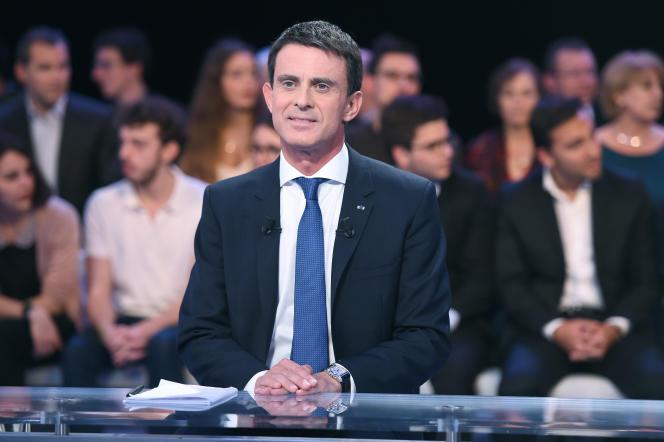 Le Premier Ministre Manuel Valls, sur le plateau de