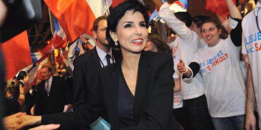 Rachida Dati, députée européenne, lors du meeting de l'UMP au Grand Palais de Lille, le 23 février 2012.