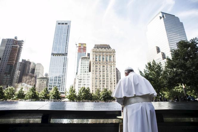 Le pape François, au Mémorial du 11-Septembre, à New York, le 25 septembre.