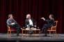 Michel Onfray, Franz-Olivier Giesbert et Eric Zemmour, au Festival du livre de Nice, le 5juin.