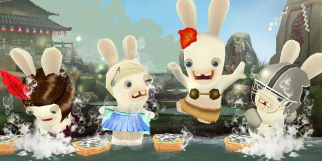 Les lapins crétins, personnages principaux de jeux vidéo à succès.
